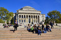 Columbia university new york city oct library and statue of alma mater new york ny on otc it is the oldest institution of higher Royalty Free Stock Photography
