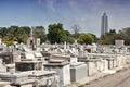 Columbus cemetery in havana cuba the main of necropolis cristobal colon Royalty Free Stock Image