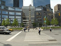Columbus Circle Spring Royalty Free Stock Images