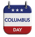 Columbus day isolated calendar icon Stock Photo