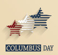 Columbus Day poster. Red, white and blue stars