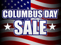 Columbus Day Sale Royalty Free Stock Image
