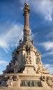 Columbus Monument Barcelona Spain Stock Photography