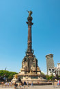Columbus monument barcelona spain on july in Stock Image