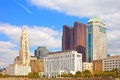 Columbus ohio downtown buildings on a sunny day Stock Images