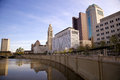 Columbus ohio skyline of as seen from the bicentennial park Stock Photography
