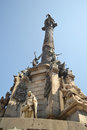 Columbus s column in barcelona monument of spain Royalty Free Stock Photo