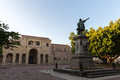 Columbus Statue and Cathedral at Colon Park in Santo Domingo, Dominican Republic Royalty Free Stock Photo