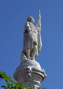 Columbus statue at of christopher in st kitts west indies Royalty Free Stock Photo