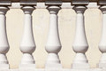 Column the abstract background of white plaster columns Stock Photo