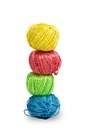 Pile of colorful balls of wool Royalty Free Stock Photo