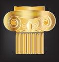 Column building greek gold design Royalty Free Stock Photo