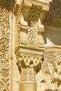 Column capital detail. Alhambra, Granada. Royalty Free Stock Photo