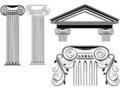 Column designs Royalty Free Stock Images