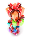 Column of gifts Stock Photography
