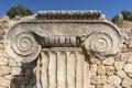 Column head in Letoon ancient city, Mugla Royalty Free Stock Photo
