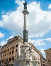 Column of the immaculate conception in rome piazza di spagna with has more than m high with a bronze statue virgin mary on Stock Photos