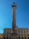 Column of Marcus Aurelius - Rome Royalty Free Stock Photo