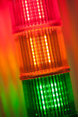 Column of signal lights Stock Image