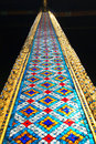 The column of the Temple of the Emerald Buddha. Thailand Royalty Free Stock Photo