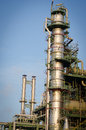 Column tower petrochemical plant at morning time and industrial Royalty Free Stock Image
