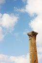 Columna en jerash Imágenes de archivo libres de regalías