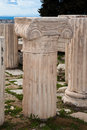 Columns at the acropolis in athens greece Stock Photography