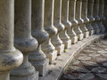 Columns in arc Royalty Free Stock Photo