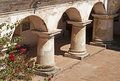 Columns and arches in a convent Royalty Free Stock Images