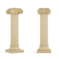 Columns d render of on white background Stock Photography