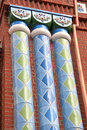 Columns decorated column in the church complex in moscow Royalty Free Stock Photography