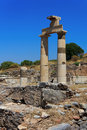 Columns at Ephesus, Turkey Royalty Free Stock Images