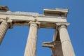 Columns of Erechtheion,  The Acropolis of Athens Royalty Free Stock Photo