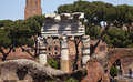 Columns Forum of Julius Ceaser Rome Italy Stock Photos