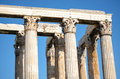 Columns of greek temple ancient Stock Image