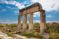 Columns in Hierapolis Royalty Free Stock Photos