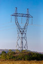 Columns high voltage power Royalty Free Stock Photo