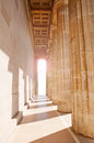 Columns leading into light walhalla temple regensburg germany Stock Image