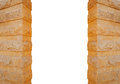 Columns made of stone isolated on white background Royalty Free Stock Photo