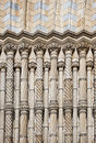 Columns at natural history museum detail london Stock Photos