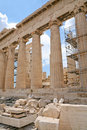 Columns of Parthenon,Acropolis, Athens, Royalty Free Stock Photography