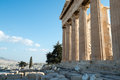 Columns of Parthenon, Acropolis of Athens, Greece Royalty Free Stock Photo