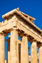 Columns of the Parthenon temple Royalty Free Stock Photo