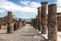 Columns in Pompei Royalty Free Stock Images