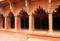 Columns in red Fort of Agra Stock Image