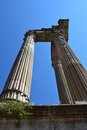 The Columns of the Roman Capital Remains Royalty Free Stock Photo