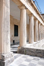 Columns in row a outside the museum corfu island Royalty Free Stock Photo
