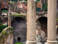 Columns and ruins on capitoline hill rome italy Stock Photos