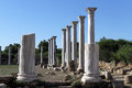 Columns and ruins in salamis north cyprus Stock Image