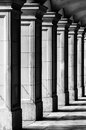 Columns square in black and white Royalty Free Stock Photos